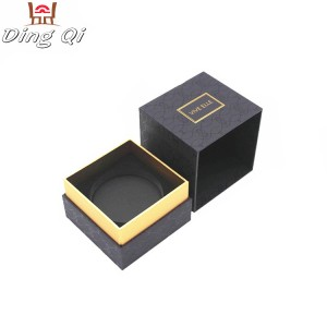 White black cardboard candle packaging boxes with lid for candles