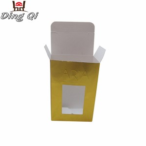 Customized logo paper cosmetic display square package makeup kit packing boxes with customized window