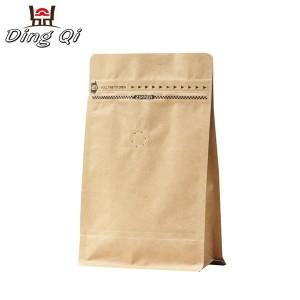 Roofing Galvanized Steel Kraft Bag With Window - brown paper block bottom bags – DingQi