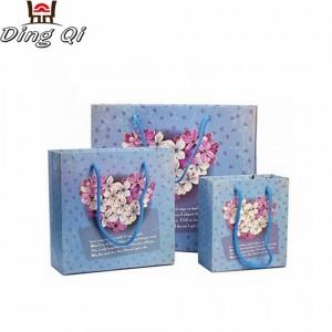 Fancy wedding birthday gift paper bag