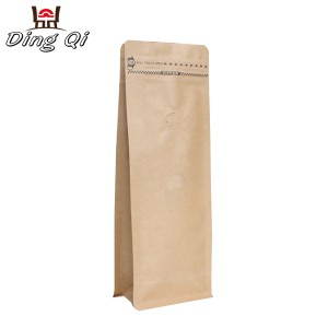 Corrugated Aluzinc Sheet White Kraft Stand Up Pouch - block bottom coffee bags – DingQi