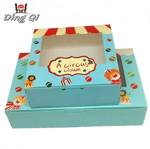 Eco friendly christmas cardboard mini cupcake food boxes with window