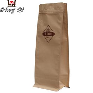 Tin Plate Steel Sheet Paper Gusset Bags - Box bottom coffee bags 0.5lb 1lb 2lb 5lb – DingQi