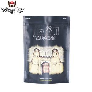 Galvanized Roofing Sheet Coffee Bean Packaging Bags - black kraft bags – DingQi