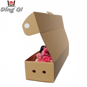 Christmas flower roses packaging corrugated foldable cardboard paper flower gift boxes for shipping packing