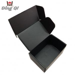Custom matte black corrugated shipping mailing boxes manufacturer