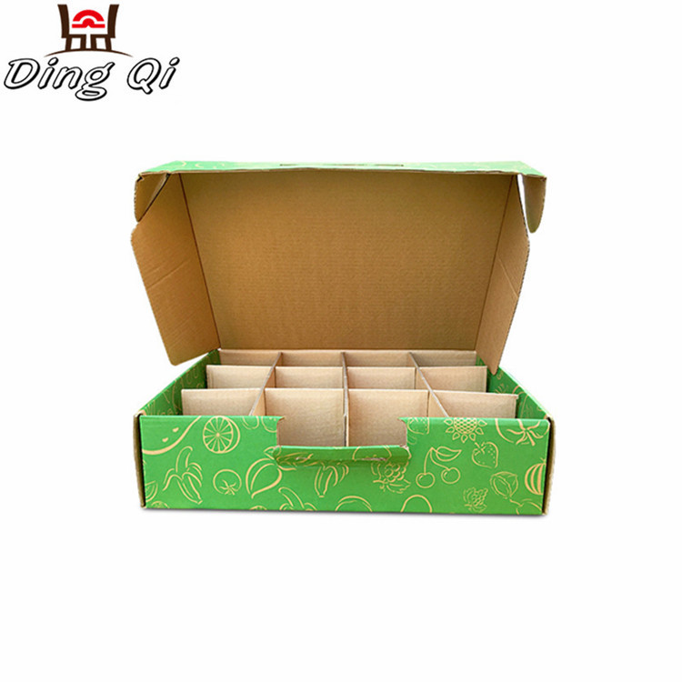 Food packaging kraft corrugated paper food chocolate cake box food packaging with dividers Featured Image