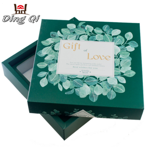 Heavy duty collapsible foldable paper cardboard packing box with lid