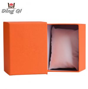 Luxury custom paper empty watch storage display gift packaging box custom logo with pillow