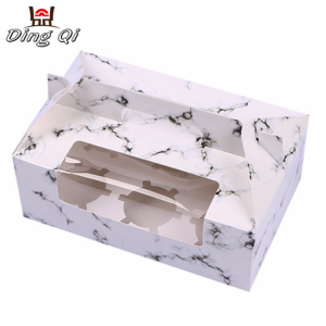 Paper take away food cupcake chocolate gift packaging paper boxes