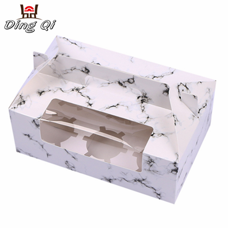 Paper take away food cupcake chocolate gift packaging paper boxes Featured Image