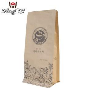 Kraft paper coffee bags 0.5lb 1lb 2lb 5lb