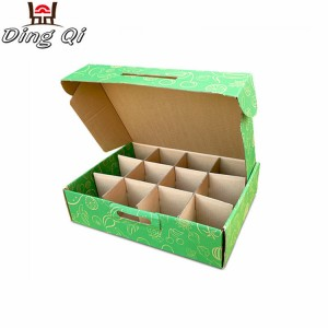 Food packaging kraft corrugated paper food chocolate cake box food packaging with dividers