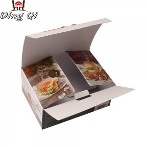 Recycled cardboard paper box for food packaging