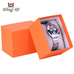 Luxury custom paper empty watch storage display gift packaging box custom logo with pillow